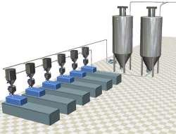 Plastics granules handling feeding systems conveying