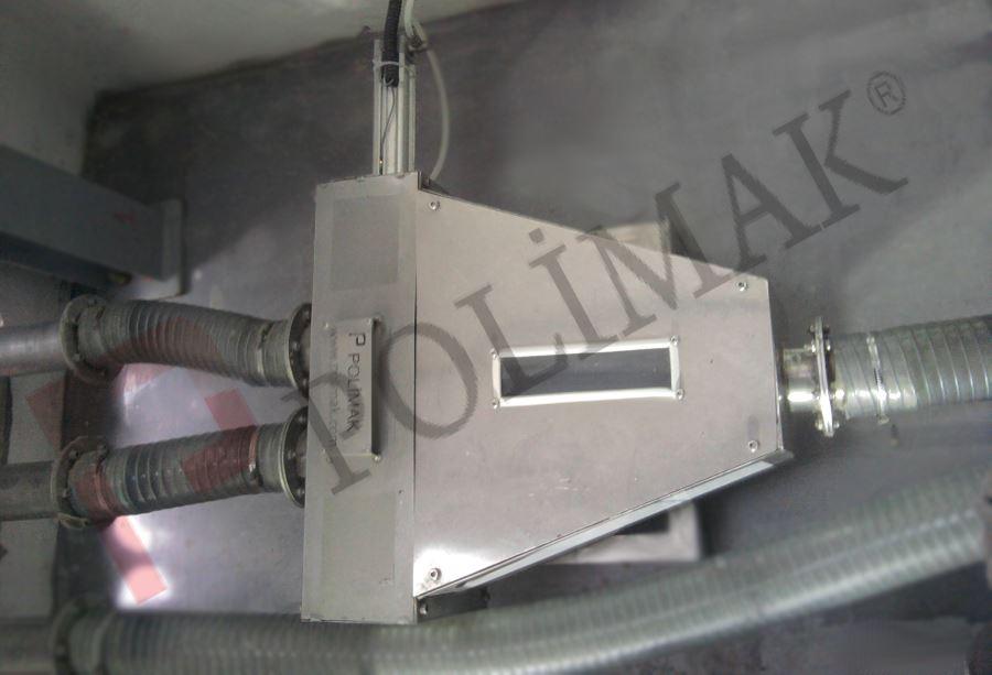 Paslanmaz çelik Esnek borulu yönlendirme vanaları pnömatik transport