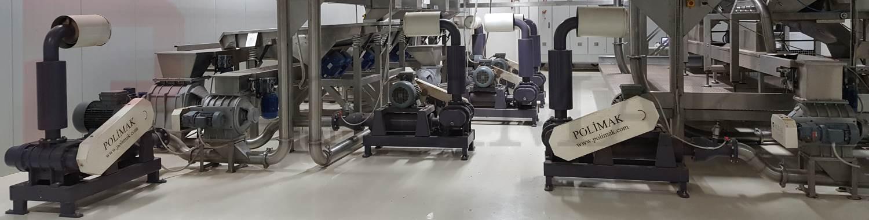 Endüstriyel otomasyon hammadde transfer gıda işleme tesisi blower hava kilidi eklüs vana