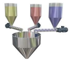 Helezon besleyici vidali konveyör uygulamaları tartım dozaj silo boşaltma sistemleri mikserler