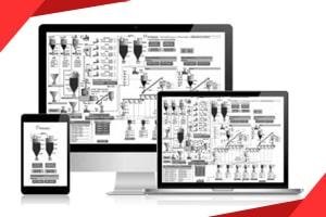 Software für industrielle Anwendungen. SPS, Automatisierungstafeln und Software für die Steuerung von Pumpen, Motoren, Ventilen, Sensoren, Dosiergeräten in Industrieanlagen