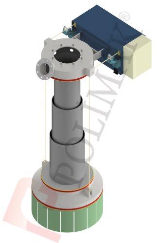 Klinker dolum şutu çimento hammadde doldurma körüğü teleskopik boru