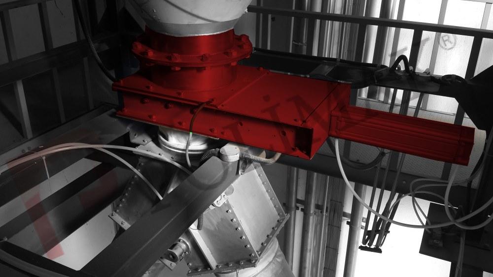 Knife gate vales slide gate valve sliding blade valve bulk solid powder discharge handling