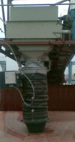 Loading bellow airslide conveyor system bulk material filling