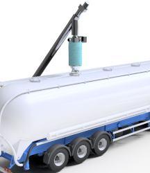 Bulk loading bellows material feeding equipment