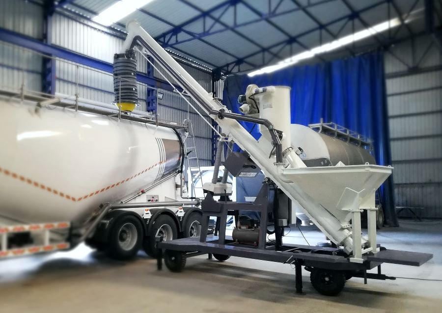 How Mobile big bag discharge silo truck loading system work how to discharge sack how to handle jumbo bag