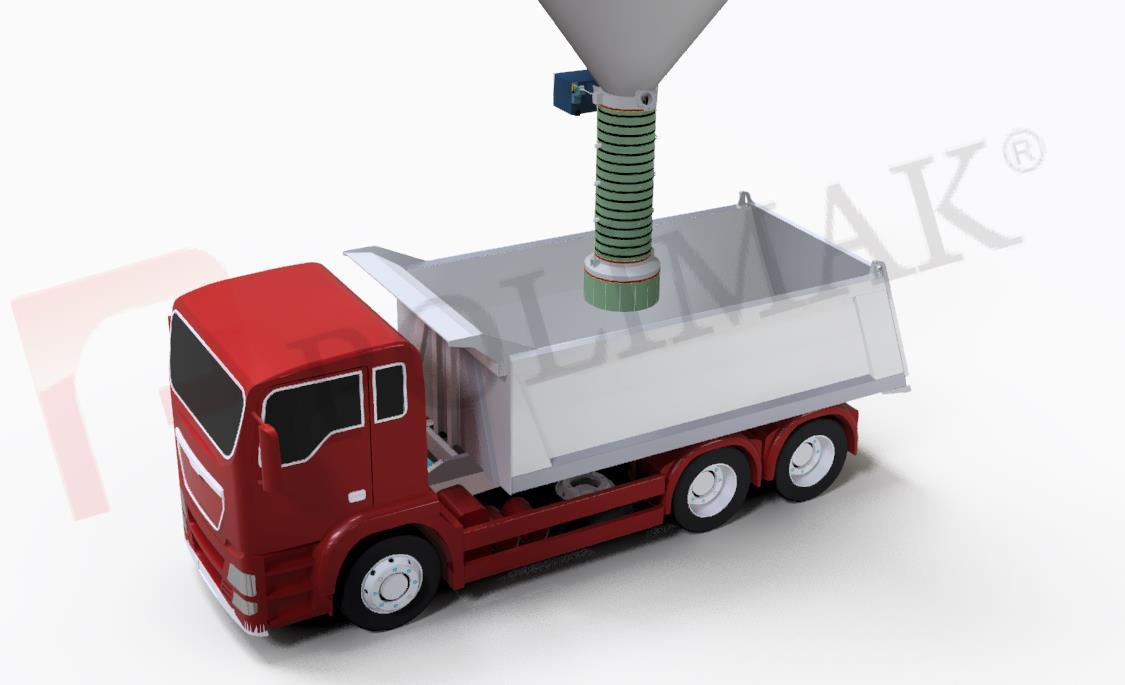 Open Truck Loading Bellows Bulk Solids Handling Truck Loading