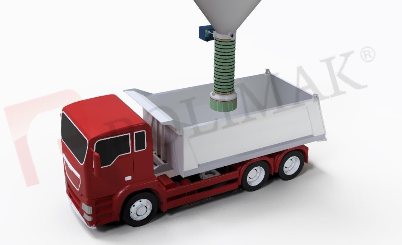 Open Truck Loading Spouts Bulk Solids Handling Truck Loading