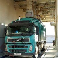 Open truck telescopic loading spout