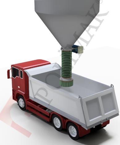 Open Truck Loading Spouts Bulk solids loading to trucks