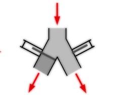 Özel tasarım vana klepe mühendislik toz transfer akış vanaları