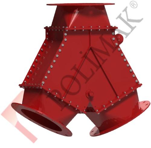 Pantolon klepe toz yönlendirme akış kontrol vanası