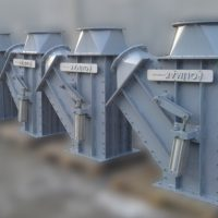 Çimento kömür tozu fly ash kül kalsit yönlendirme klepesi