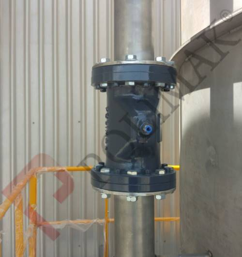 Pneumatic conveying pinch valve pressurized air operated