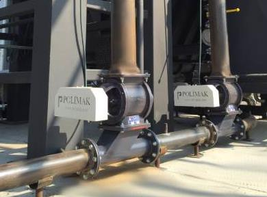Rotary Feeders installed on pneumatic conveying system