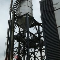 Dry Bulk Chemical powder silo cyclone loading