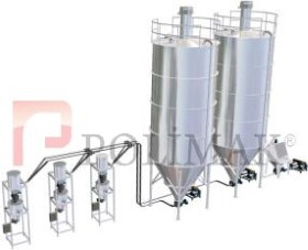 Raw material proccessing plant silo pneumatic conveying powder handling