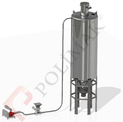 Pneumatic conveying system of bulk solids Rotary lobe roots blower