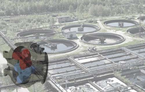 Rotary lobe blower waste water treatment plant aeration