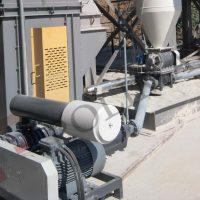 Toz taşıma sistem bloweri ve hava kilidi