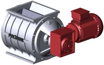 Rotary Valve Worm Gear Box Connection