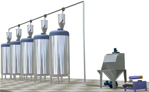 Bag dumping equipment mixer feeding pneumatic conveying powder dosing system