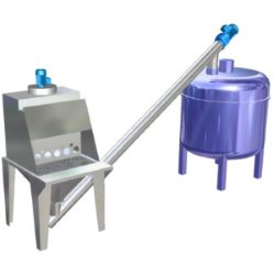 Sack opening station applications mixer filling pneumatic conveying silo loading truck loading