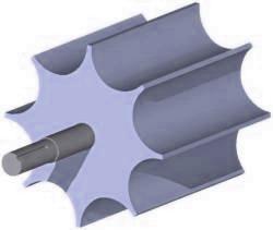 Rotary Valve scalloped rotor