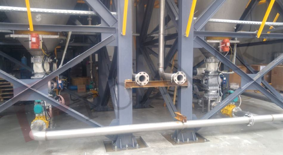 Toz silosu boşaltma pnömatik transfer sistemi hammadde aktarım