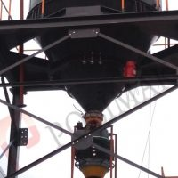 Bin activator and truck loading telescopic chute