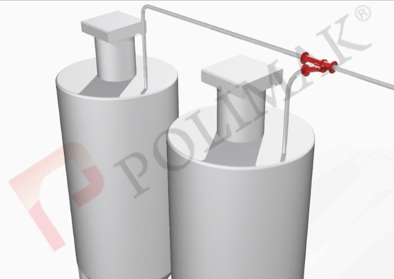 Y klepe silo dolum yönlendirme vanası pnömatik taşıma boru hattı