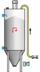 Silo equipment component level sensor jet filter