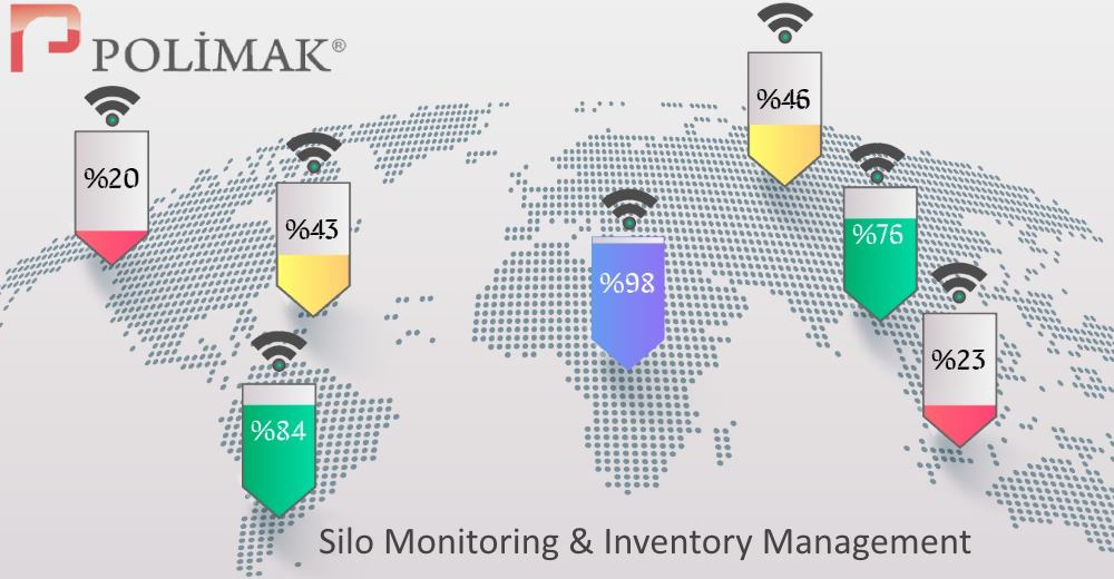 Storage Silo monitoring inventory management tank level monitoring industrial iot
