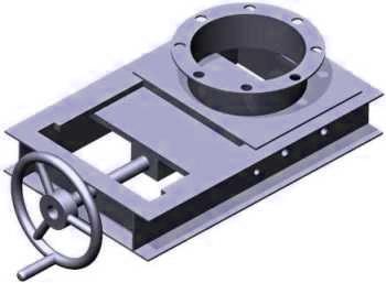 Slide gate valve of FIBC bag emptying system