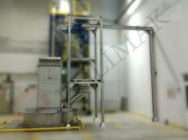 Powdered food grade big bag emptying station stainless steel