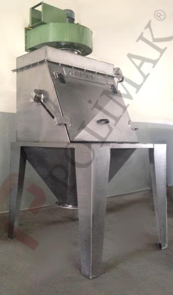 Food grade stainless steel bulk bag opener sack discharge tipping stations