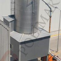 Bulk solids silo discharging tanker truck loading system bulk loading telescopic spout
