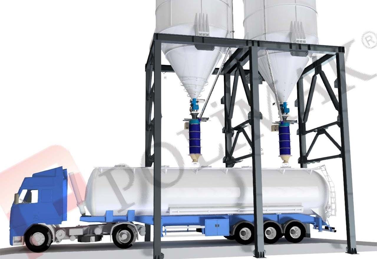 Telescopic Tanker Loading Chutes Bulk Solid truck loading bellow telescopic spouts