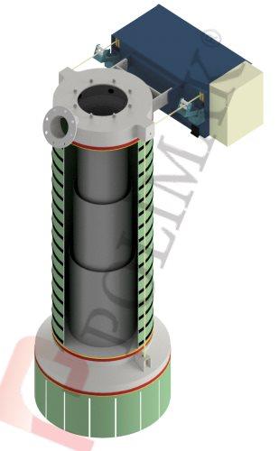 Teleskopik dolum şutu teleskopik doldurma borusu klinker yükleme