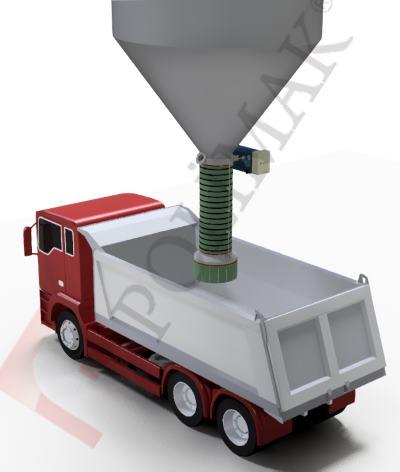 Teleskopik kamyon dolum körükleri hammadde doldurma