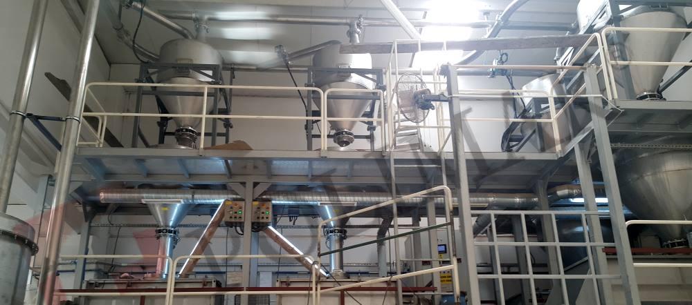 Gıda Şeker Un premix mikser otomasyonu paketleme dolum tesisi pnömatik taşıma reçete