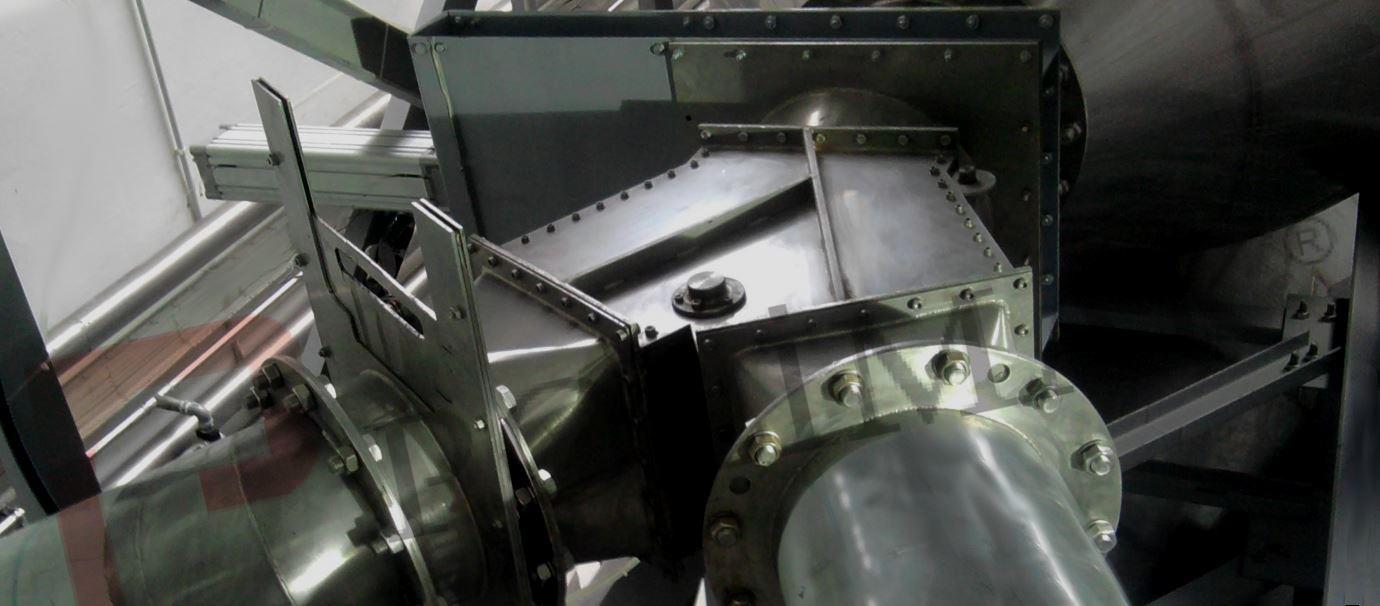 Akış kontrol yönlendirme vanası pantolon klepe toz transfer silo boşaltma
