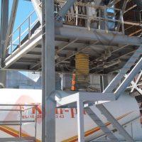 Çimento silosu teleskopik silobas yükleme şutları