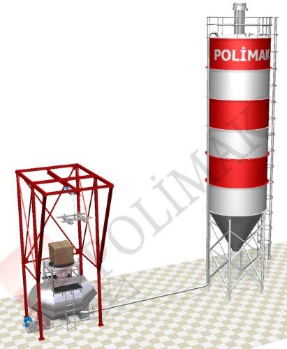 Yoğun Faz pnömatik taşıma big bag boşaltma sistemi