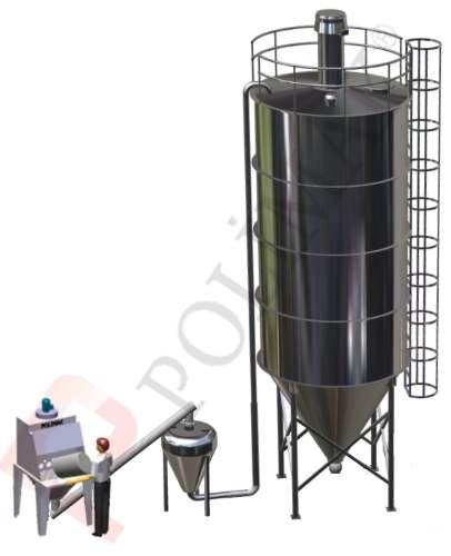 Yoğun faz pnömatik taşıma silo dolum çuval boşaltma sistemi