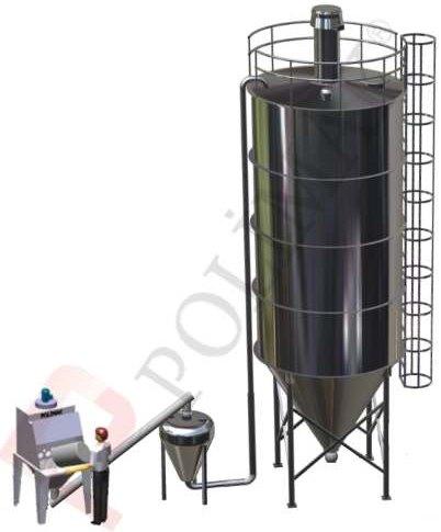 Yoğun faz pnömatik taşıma silo dolum torba açma sistemi