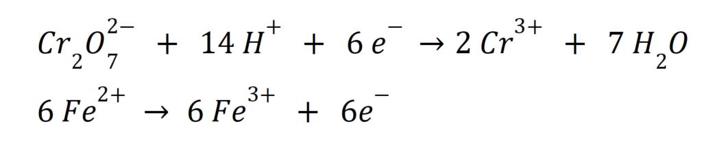 Yarı reaksiyon standart elektrot potansiyeli +0,771 V.