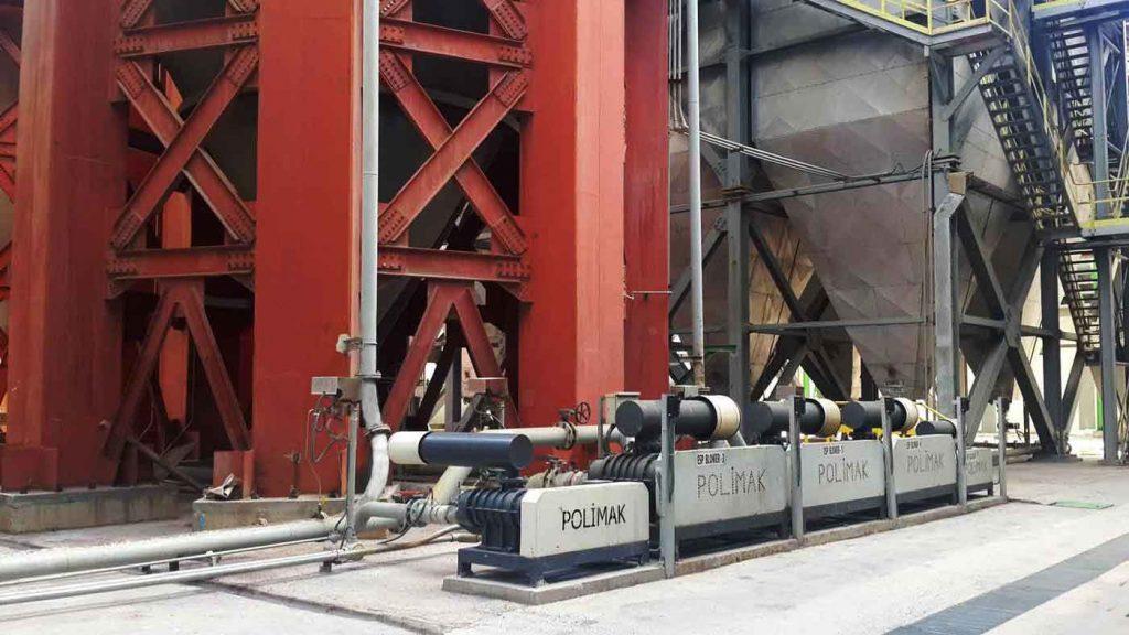Drehkolbengeblaesen für da Transport der Flugasche in Kraftwerke