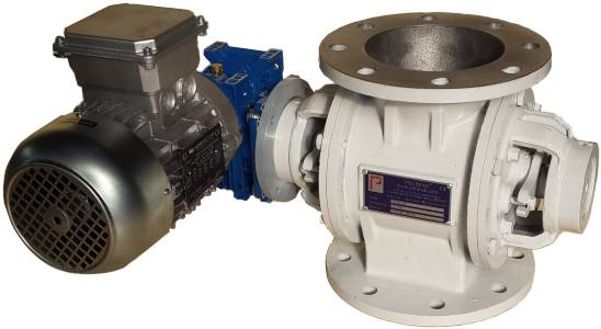 Rotary feeder atex certified explosion ex-proof valve