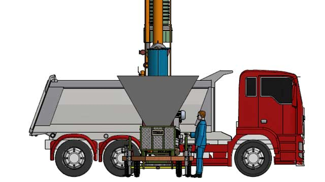 mobile bulk truck loading systems